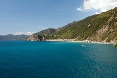 Cinque Terre的海岸线 免版税图库摄影