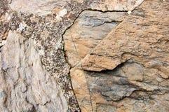 Cinque Terre Ιταλία: Χαρακτηριστικός τοίχος Stone στοκ φωτογραφίες