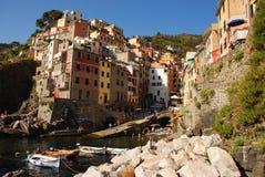 Village of Riomaggiore at Cinque Terre Stock Images