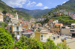 Cinque terre. Villages on coast of La Spezia province in Luguria, Italy Royalty Free Stock Image