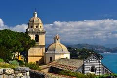 Cinque Terre architektoniczni budynki i krajobraz w lato czasie Obraz Royalty Free