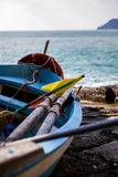 Cinque Terre, bateau Photo stock