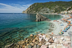 Cinque terre beach landscape Royalty Free Stock Images