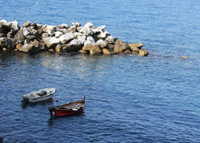 Cinque Terre Boats Fotografie Stock Libere da Diritti