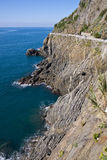 Cinque Terre Cliff. One of the cliffs in Cinque Terre national park - Italy Royalty Free Stock Photography