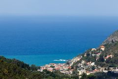 Cinque Terre coast in Liguria, Italy Stock Photos
