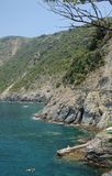 Cinque Terre coastal path Italy Royalty Free Stock Images