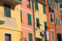 Cinque Terre Colorful Homes Stock Images