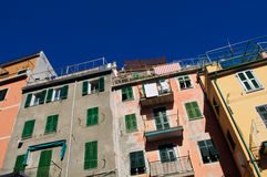 Cinque Terre Colorful Homes Stock Image