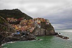 Cinque Terre Colourful fotografia stock libera da diritti