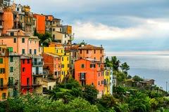 Cinque Terre. Corniglia village at Cinque Terre National Park, Liguria Italy stock photography
