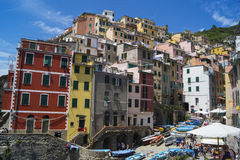 Cinque Terre. Five different comunes in UNESCO national park in Italy Royalty Free Stock Photos