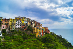 Cinque Terre. Five different comunes in UNESCO national park in Italy Royalty Free Stock Images