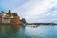 Cinque Terre. Five different comunes in UNESCO national park in Italy Stock Photo