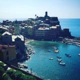 Cinque Terre från över Royaltyfri Foto