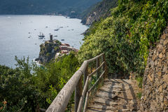 Cinque Terre hiking path to vernazza Stock Photos