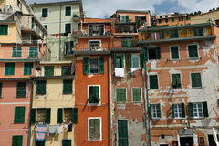 Cinque terre homes, Italy. Royalty Free Stock Photos