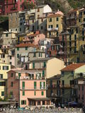 Cinque Terre Houses Stock Photography