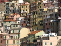 Cinque Terre Houses Royalty Free Stock Image