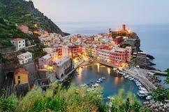 Cinque Terre (Italian riviera), Vernazza Stock Photos