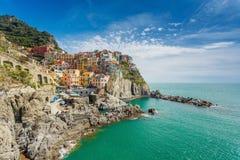 Cinque Terre, Italie Manarola Photos libres de droits