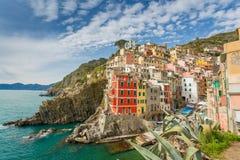 Cinque Terre, Italie Riomaggiore Photos stock