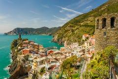 Cinque Terre, Italie Vernazza Photos stock