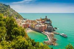 Cinque Terre, Italie Vernazza Photo stock