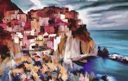 Cinque Terre, Italien Arkivbild