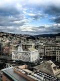 Cinque Terre Italien, byggande fasad arkivfoton