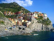 Cinque Terre, Italy. Charming hillside villages of Cinque Terre in Liguria region of Italy Royalty Free Stock Photo