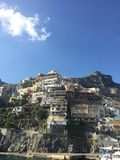 Cinque Terre Italy cliffside housing. Enjoyable views of an Italian Royalty Free Stock Photography