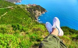Cinque Terre Italy Coast Imagens de Stock Royalty Free
