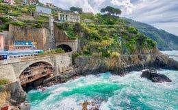 Cinque Terre, Italy. Coastline view in spring season.  Stock Image