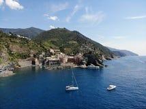 Cinque Terre Italy-klippenkust stock afbeelding