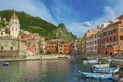 Cinque Terre, Italy. Vernazza village, Cinque Terre, Italy stock photo
