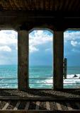 Cinque Terre-kustlijn - van het station wordt gezien dat Stock Foto