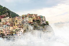 Cinque terre Landscapes Europa in Italy. City Landscapes Wiew Cinque terre stock photography