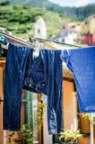 Cinque Terre Laundry Imagen de archivo