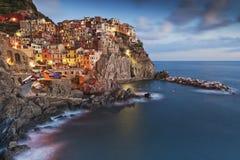 Cinque Terre Manarola Italy Unesco Royaltyfria Bilder