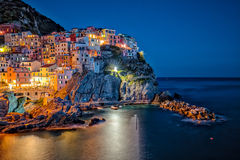 Cinque Terre - Manarola village in summer Stock Photography