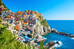 Cinque Terre national park, Italy. Beautiful view of Manarola town, Cinque Terre national park, Liguria, Italy stock image