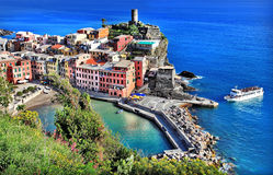 Cinque terre- national park. Vernazza Stock Photography