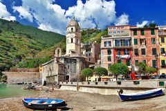 Cinque terre- national park. Vernazza Royalty Free Stock Photo