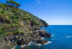 Cinque Terre nationalpark Fotografering för Bildbyråer