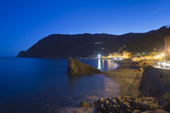 Cinque terre night view Stock Image