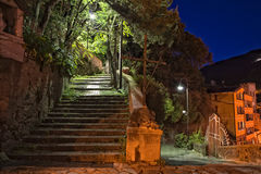 Cinque terre night view Stock Images