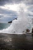 Cinque Terre, ondas Imagen de archivo