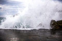 Cinque Terre, ondas Imagenes de archivo