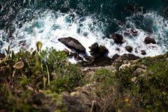Cinque Terre, ondas Imagen de archivo libre de regalías